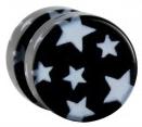 Magnet Plug schwarze Sterne