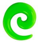 Dehnschnecke grün